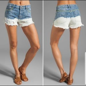 Distressed bleached free people shorts